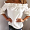 Fashion Women Blouse Puff Sleeve Slash Neck Soild Shirt Strapless Off Shoulder Ruffles Top