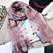 High Quality Mulberry Silk Long Scarves Shawl Solid Color -Purple