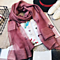 High Quality Mulberry Silk Long Scarves Shawl Solid Color -Red