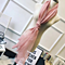 High Quality Mulberry Silk Long Scarves Shawl Solid Color -Pink