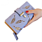 Hollow Out leaf Women Wallet Long PU Leather Women Purse