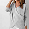 Hot Women Knitted Sweater Long Sleeve Deep V Neck Cross Pullovers Sweater