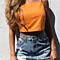 Lace Up Camisole Tank Top Sexy Style Backless Hollow Out Crop Top