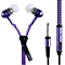 Microphone Mic Earbuds Tangle-Free Zipper headphone Headset ( Random Color )