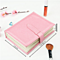 Pu Leather Stud Earrings Collection Book Pattern Portable Jewelry Display Storage Box