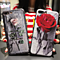 Retro  Red Pink Rose Print Iphone 6 6s Plus  & 7 7 Plus Cover Case