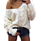 Sexy Deep v Neck Long Sleeve Autumn Winter Knitted Sweater