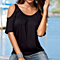 Sexy Off Shoulder Tunic Tee Top Casual Short Sleeve Cotton T Shirts Tee