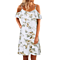 Sexy  Women's Off Shoulder Floral Print Ruffle Dress