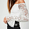Sexy Women's Off Shoulder Lace Long Flare Sleeve Top Shirt Blouse