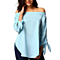 Sexy Women's Off Shoulder Solid Bow Shirts Blouse