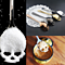 Skull Shaped Spoon Stainless Steel Coffee Spoon Dessert Ice Cream Sweets Teaspoon  Food Cutlery