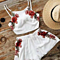 Summer Backless Printed Embroidery Floral Jumpsuits Ladies Bowtie Playsuits