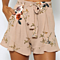Summer Bohemian Women Chiffon Shorts Floral Print High Stretch High Waist Shorts