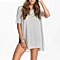 Summer Casual Loose Short Sleeve Irregular Long Top T Shirt