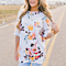 Summer Casual Women's Ruffle Sleeve floral print T Shirt Tops