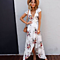 Summer Deep V Neck Floral Beach Long Boho Maxi Dress