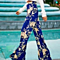 Summer High Waist Wide Leg Pants Women Casual Palazzo Trousers Floral Pajama Long Pants