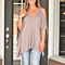 Summer Solid Off the Shoulder Strap T Shirt Women Top