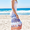 Summer Stitching Stripe Dress Women Wave Line Beach Dress