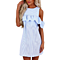 Summer Strap Off Shoulder Ruffles Casual Loose Dress