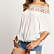 Summer Women  Cool Blouse Slash Neck Off Shoulder Top Blouse