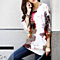 Summer Women's Floral Print  O Neck Chiffon Shirts Blouse