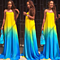 Summer Women's Rainbow Color Changing Maxi Dress