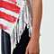 Summer Women's Sexy American Flag Pattern Tank Top Sleeveless T Shirt With Tassel