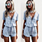 Summer Women's Solid V Neck Bandage Rompers Jumpsuit