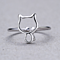 The New Hollow Cat Silver Adjustable Ring