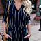 Vintage Striped Summer Jumpsuit Elegant Belted Women Half Sleeve Rompers Playsuit