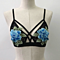 Vintage Women's Floral Embroidery Hollow Out Lace Bra