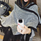 Winter Cashmere Scarf Women Poncho Blanket Cape Shawls Coat Tassels