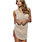 Women Beach Swimsuit Cover up Crochet Mini Summer Dress Sleeveless Knitted Beach Cover Ups