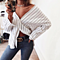 Women Blouses Shirts White Striped Blouse Sexy V Neck Off Shoulder Loose Femme Blusas Tops