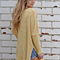 Women Casual Loose Bat Sleeve V neck Solid Knit Sweater