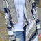 Women Long Sleeve Irregular Geometric Print Cardigan Sweater