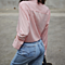 Women's Sexy  Casual Loose Cotton Solid Shirt Blouse