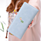Women Wallets Artificial Leather With Embroidery Flowers Candy Color