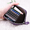 Women Zipper Credit Card Holder Patent Leather Fashion Cardholder Extendable Id Holder Bags