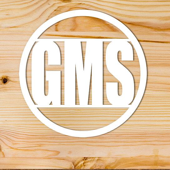 Buy Custom Metal Monogram Modern Lettering in Circle Wall Decor by ...