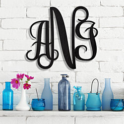 Custom Wood Monogram Freestyle Classic Lettering Wall Décor