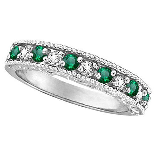 buy 0 59ct designer green emerald may birthstone