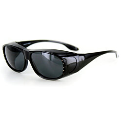 """Rhinestone Hideaways"" Over-Prescription Polarized Sunglasses for Stylish Women"
