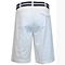 Men's 100% Fine Cotton Twill Flat Front Belted Shorts