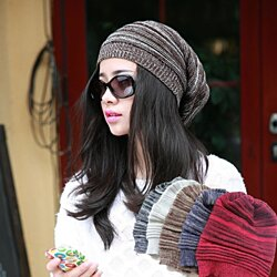 Unisex Oversized Knit Winter Beanie Hat - Assorted Colors