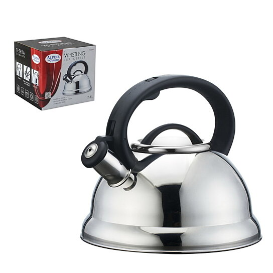 Buy 2 8 liter stainless steel whistling tea kettle by for Alpine cuisine coffee cups