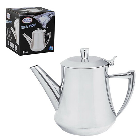 Buy 35 oz stainless steel tea pot by alpine cuisine on opensky for Alpine cuisine coffee cups