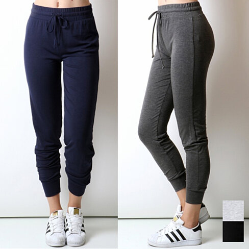 Comfort Drawstring Joggers in 4 Colors